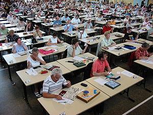Scrabble - A duplicate Scrabble tournament in La Bresse, France