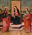 Scuola di ridolfo del ghirlandaio, madonna col bambino tra i ss. jacopo ed anna, 1514, 03.jpg