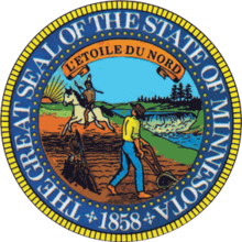 Description de l'image Seal of Minnesota-alt.png.