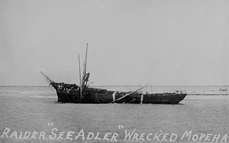 Maupihaa - The wrecked Seeadler