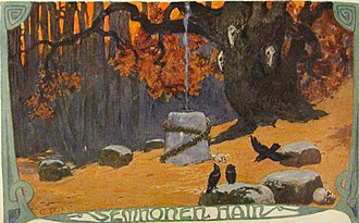 Grove of fetters - The Semnones' Grove of Fetters (1905) by Emil Doepler.