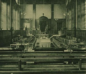 Senate of Northern Ireland - Chamber of the Senate when at Assembly's College, in 1921