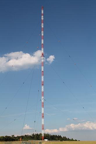 Thurnau - Mast of Thurnau transmitter ( height: 240 metres)