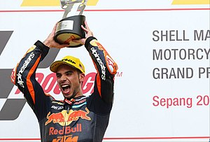 Miguel Oliveira (motorcycle racer) - Image: Sepang Victory (2017)