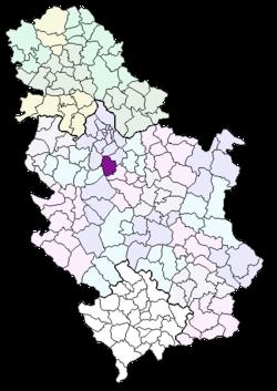 arandjelovac karta srbije Општина Аранђеловац — Википедија, слободна енциклопедија arandjelovac karta srbije