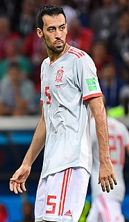 Sergio Busquets Spanish association football player