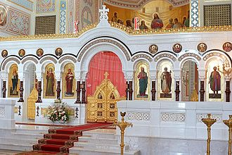 Chersonesus Cathedral - The Vladimir Cathedral in Chersonese, decoration, icons