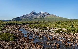 Sgùrr nan Gillean 964m high mountain in Scotland