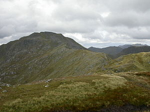 Sgùrr a' Mhaoraich - Sgùrr a' Mhaoraich's summit seen from Sgùrr Coire nan Eiricheallach