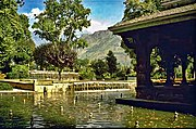 Tourism forms an integral part of the state's economy. Shown here is the Shalimar Gardens. In a famous incident, a Persian Emperor claimed it to be a paradise on Earth.