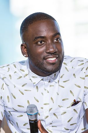 Shamier Anderson - Anderson at the Wynonna Earp discussion at Camp Conival in San Diego in July 2016
