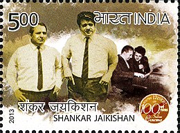 Shankar (left) and Jaikishan (right) on a 2013 stamp of India