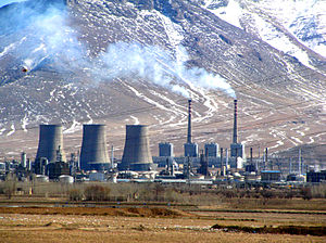 Water crisis in Iran - Gas power plant in Iran. Water use by thermal power plants is more than double domestic water use.