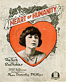 Sheet music cover - HEART OF HUMANITY (1919).jpg