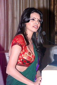 Sherlyn Chopra at Playboy press meet 05.jpg