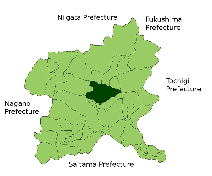 Shibukawa Japan  city photo : Shibukawa in Gunma Prefecture Wikimedia Commons