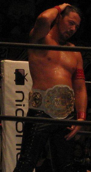 Shinsuke Nakamura - Nakamura in September 2013, during his second reign as the IWGP Intercontinental Champion