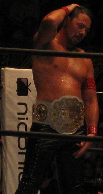 Shinsuke Nakamura - Nakamura in September 2013, during his second reign as the IWGP Intercontinental Champion