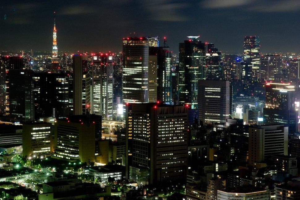 Shiodome Area - Tokyo night view