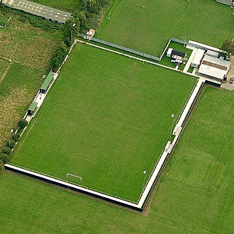 Sholing F.C. - Aerial photograph of the Silverlake Arena, home of Sholing Football Club
