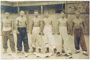 Shuai jiao - Six Shuai Jiao masters in Tianjin, 1930.