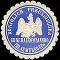Siegelmarke Königlich Preussisches Generalkommando VIII. Armeekorps W0211785.jpg