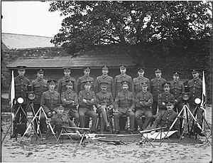 Royal Irish Artillery - Signal men of the Royal Irish Artillery, shown in 1906.