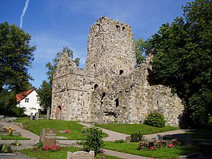 Prehistory and origin of Stockholm - Ruins of the St Olof Church at Sigtuna.