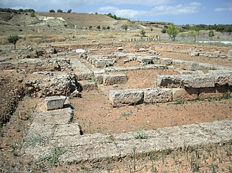 Sicyon - Excavation site of a Doric temple in Sikyon.
