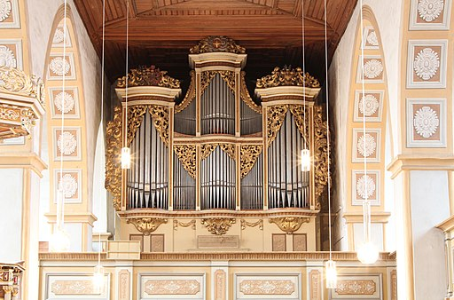 Silbermannorgel in der Georgenkirche Rötha 4