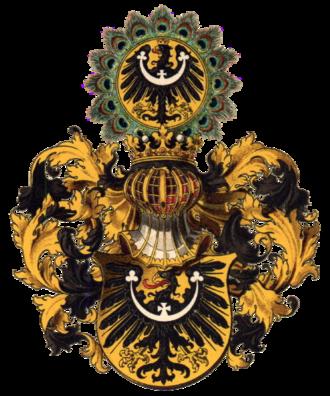 Lower Silesia - Silesian coat of arms, as drawn by Hugo Gerard Ströhl (1851–1919)