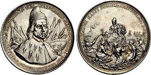 Francesco Morosini - Medal struck in Morosini's honour for his military exploits in the Morean War.
