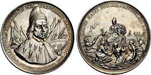 Francesco Morosini - Medal struck in Morosini's honour for his military exploits in the Morean War.