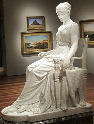 Penelope - Penelope by Franklin Simmons, marble, 1896.  On display at the De Young Museum in San Francisco.