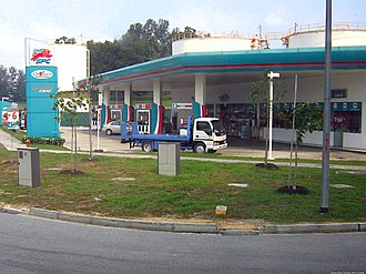 Singapore Petroleum Company - An SPC station in Jurong.