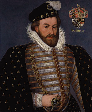 1589 in art - Image: Sir Christopher Hatton from NPG (2)
