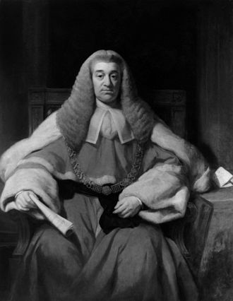 Nicholas Conyngham Tindal - Portrait of Sir Nicholas Conyngham Tindal by Sir Thomas Phillips RA, now in the Great Hall of Lincoln's Inn.