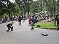 Skateboarding en el parque nacional con skateboard perdido.JPG