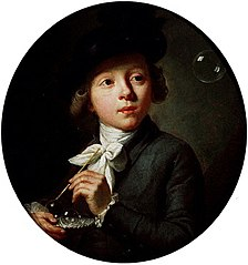 Young Boy Making Soap Bubbles