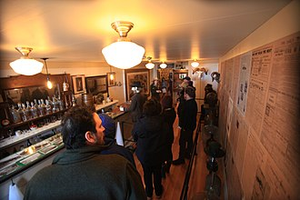 Klondike Gold Rush National Historical Park - Visitors on a ranger-guided tour of Jeff. Smith's Parlor Museum opened in April 2016