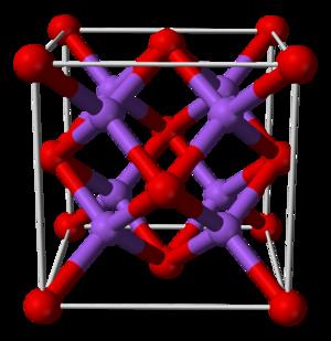 Sodium oxide - Image: Sodium oxide unit cell 3D balls B