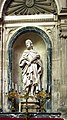 Soissons, cathedral Saint-Gervais-et-Saint-Protais, statue of Rufinus of Assisi.JPG