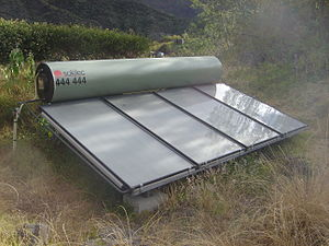 A monobloc (thermosiphon) solar heater in Cirq...