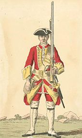 Soldier of 28th regiment 1742