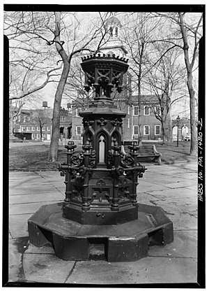 Sons of Temperance - Sons of Temperance Fountain installed at Centennial Exhibition in 1876 and relocated to Independence Square, Philadelphia.