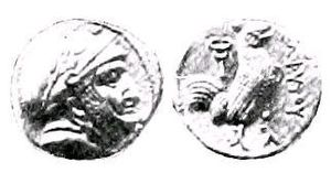 Greek conquests in India - Coin of Sophytes (305–294 BC)