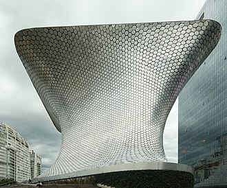 Museo Soumaya - Exterior of the Plaza Carso building, 2014