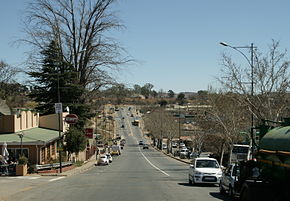 The R24 forms the main road through Magaliesburg