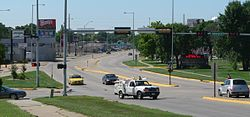 South Sioux City, Nebraska looking S from bridge.JPG