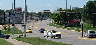 South Sioux City, Nebraska - Image: South Sioux City, Nebraska looking S from bridge